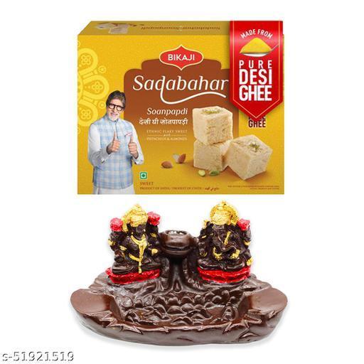 iHandikart Diwali Gift Combo for Diwali Gifting, (Combo Includes - Smoke Fountain  And Sadabahar Soanpapdi 450g ),IHKSKU-DFC0022