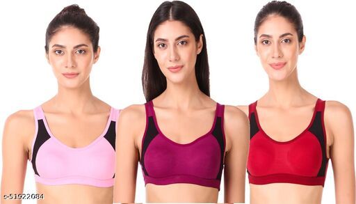 Empisto Branded sport bra babypink,purple,maroon color nike bra