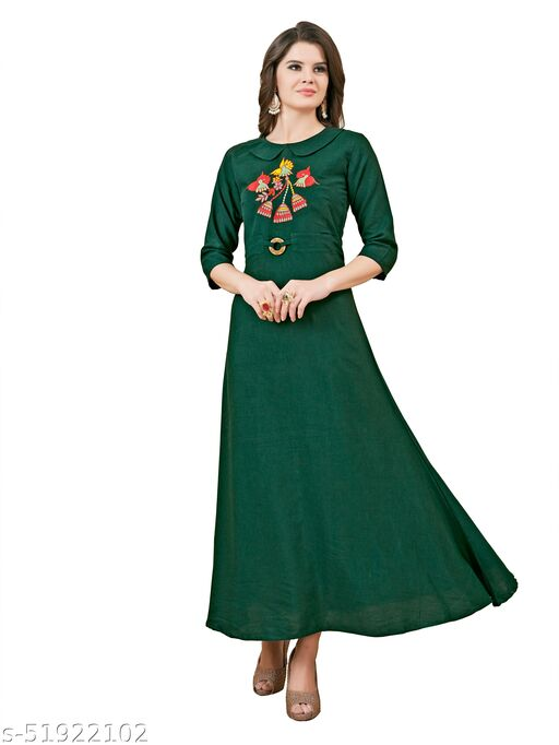 Women's A-Line Rayon Fit & Flare gowns