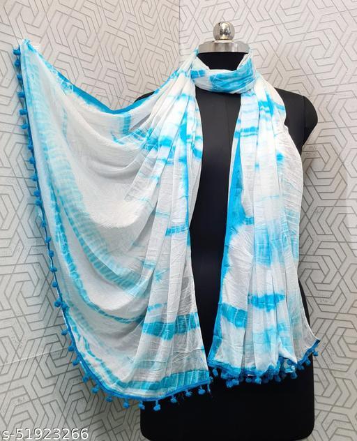Lady Shopi Beautiful Women Chiffon Printed Stylelist Dupatta(CHINON FIROZI)