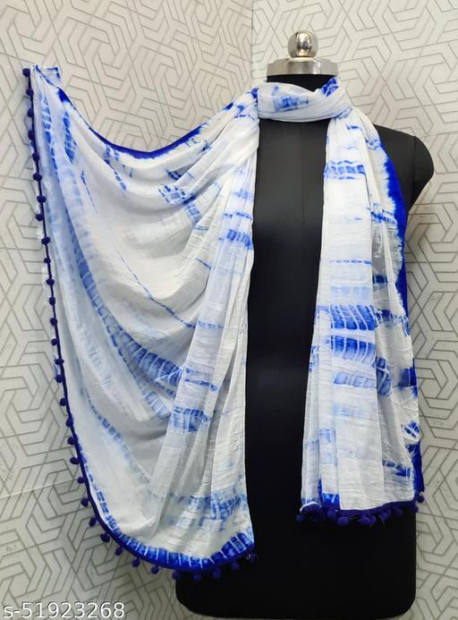 Lady Shopi Beautiful Women Chiffon Printed Stylelist Dupatta(CHINON BLUE)