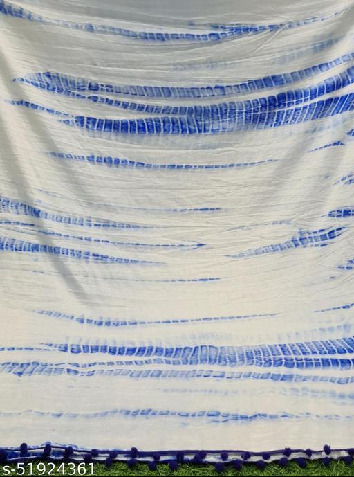 Lady Shopi Beautiful Women Chiffon Printed Stylelist Dupatta(CHINON BLUE)-1
