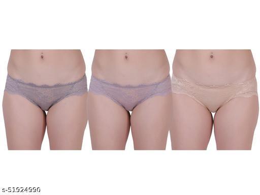 Women Panty Pack Of 3 Light Purple,Purple,Skin