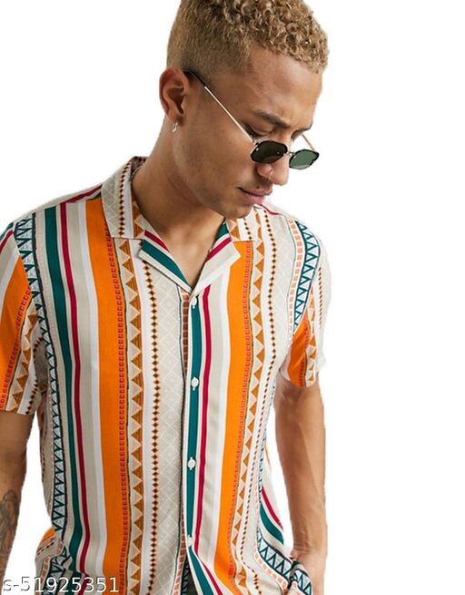 Trendy Multi Print Half Sleeves Mens Shirt