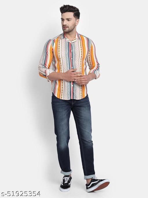 Trendy Multi Print Full Sleeves Mens Shirt