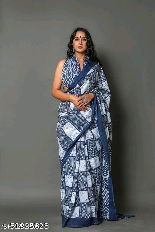 Digital Print Cotton Designer Saree for Women