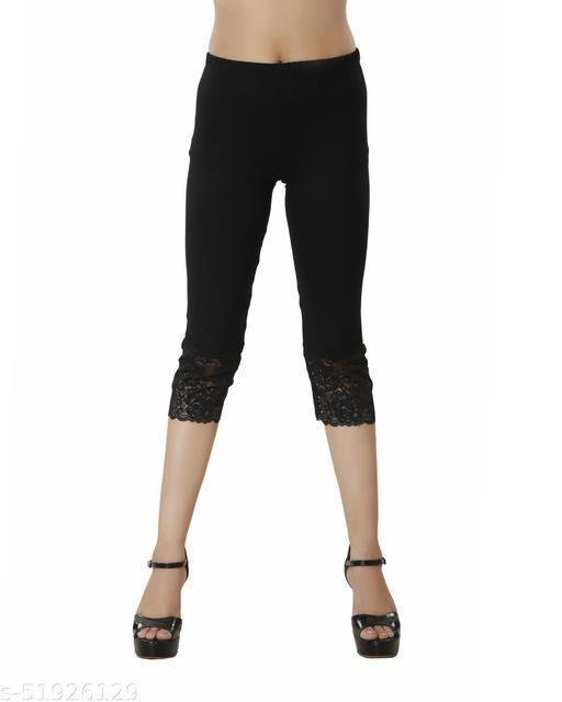 Nivcy Fashion Women Black Capri