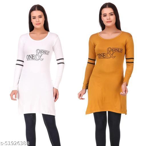 Fancy Lycra Kurti Pack of 2 for women/girls