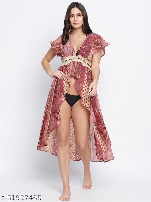 Charmilistic laced up women beachwear Dress