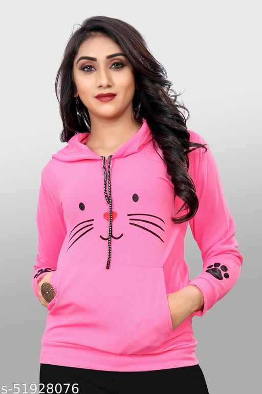 HOT TRENDY MEOW HOODIE FOR GIRLS