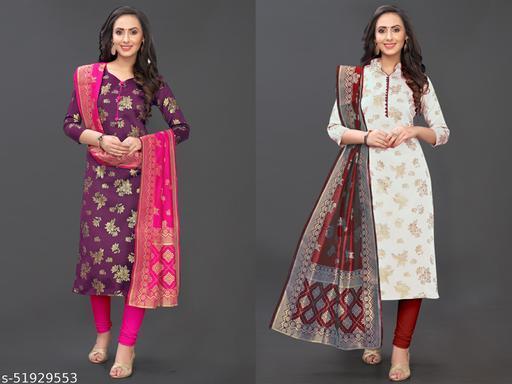 Dandiwala exports present New Banarasi jacqard dress material
