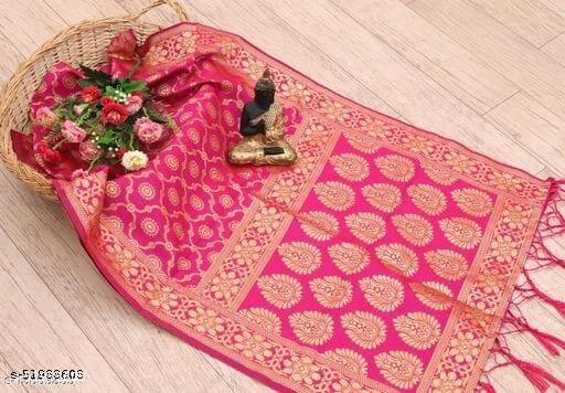 Panetar Women's Woven Fancy Banarasi Silk Dupatta