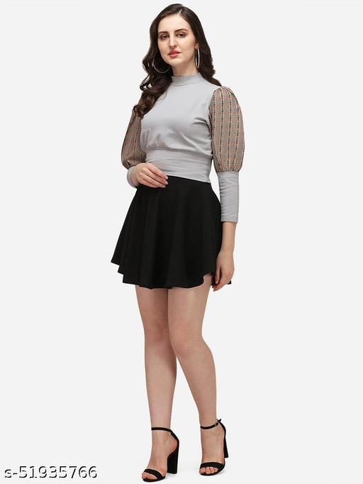 Trendy  Womens Multicolor Dots Printed Cotton Lycra Top