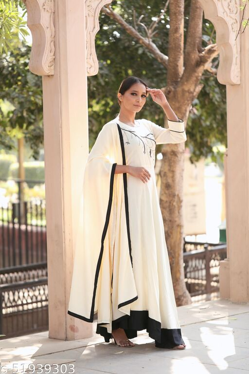 Women's Fashionable Embroidery Kurti With Dupatta Sets