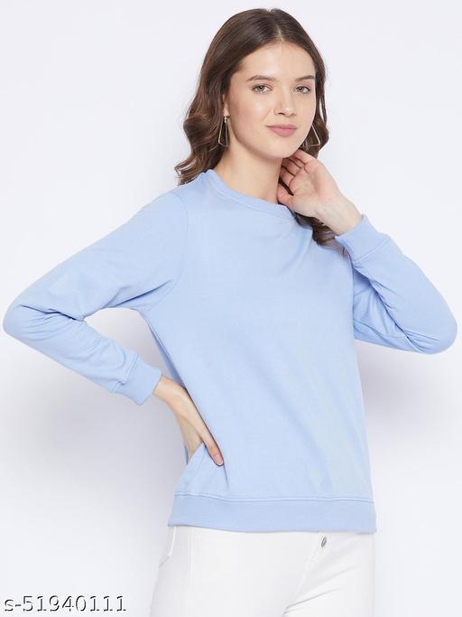 Fleece Round Neck Sweatshirt