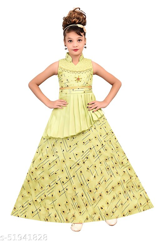 Cute Girls Ethnic Gowns