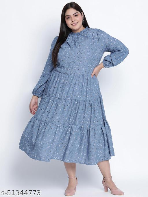 Sea shore aqua blue plus size dress