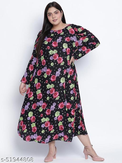 Maddlic floristic plus size dress