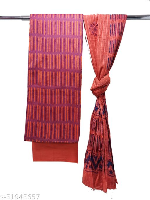 Handcrafted Hand Block Printed Batik PureCotton Suits