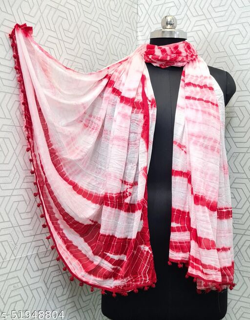 KV Fashion Beautiful Women Chiffon Printed Stylelist Dupatta(CHINON RANI)