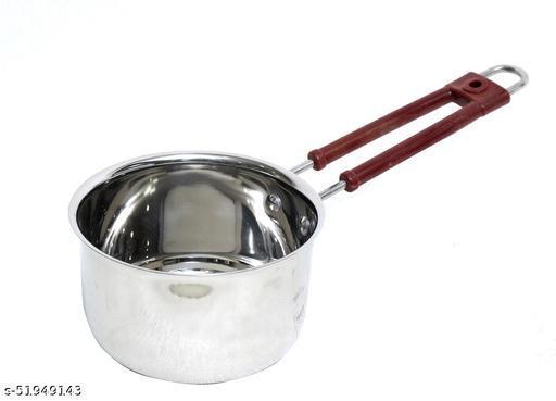 Bengani Stainless Steel Saucepan 18.8 cm diameter, 1.75 L capacity  (Stainless Steel, Plain Bottom)