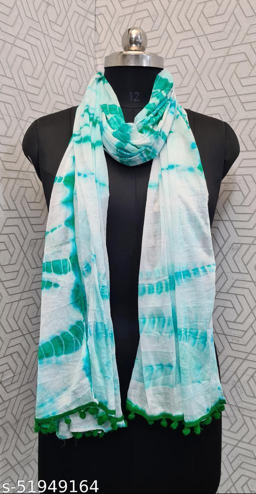 KV Fashion Beautiful Women Chiffon Printed Stylelist Dupatta(CHINON GREEN)-2