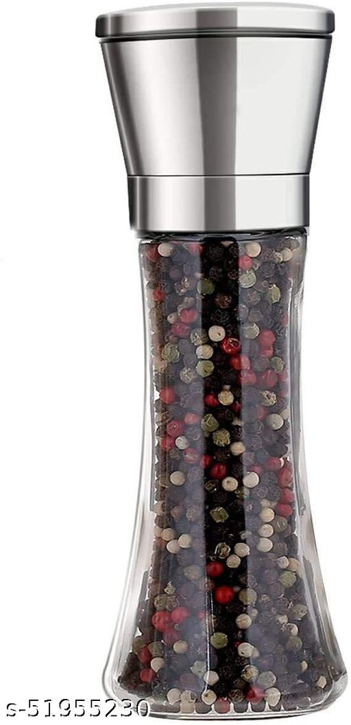 H.R.ENTERPRISE_ Premium Stainless Steel Salt and Pepper Crusher Tall Salt and Pepper Mill Shakers with Adjustable Coarseness (Pack of 1)
