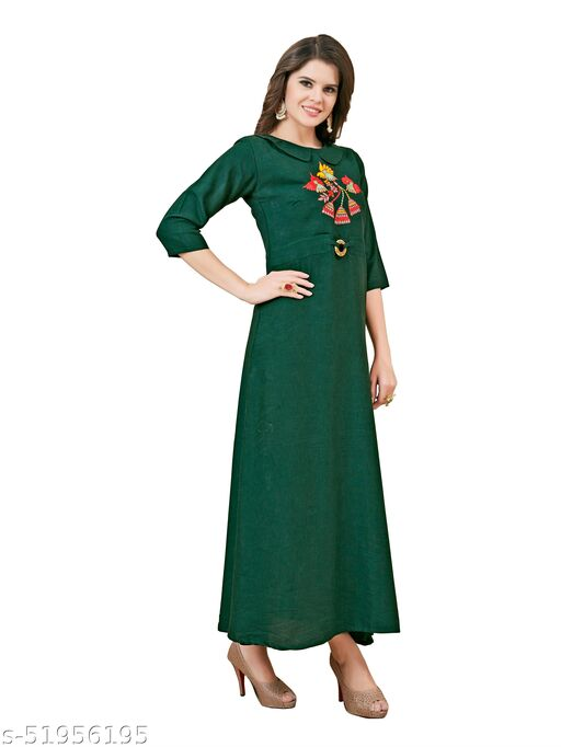 Women's A-Line Rayon Fit & Flare Maxi Gowns