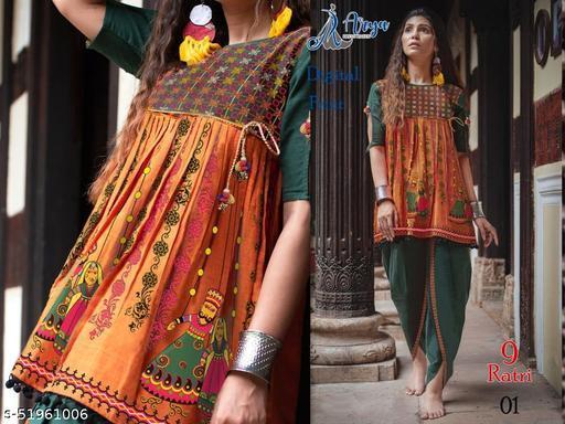 Designer Navratri Special Women Dhoti Kedia Combo
