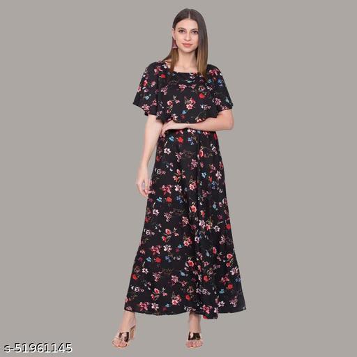 A Womens Polycrepe Maxi Dress sleeveless