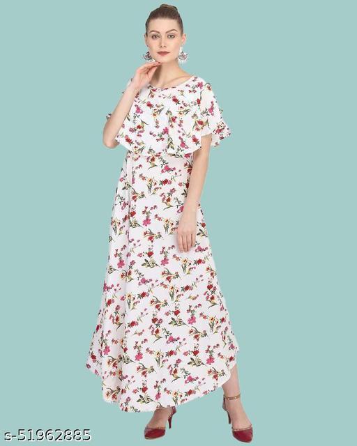PS Womens Polycrepe Maxi Dress sleeveless