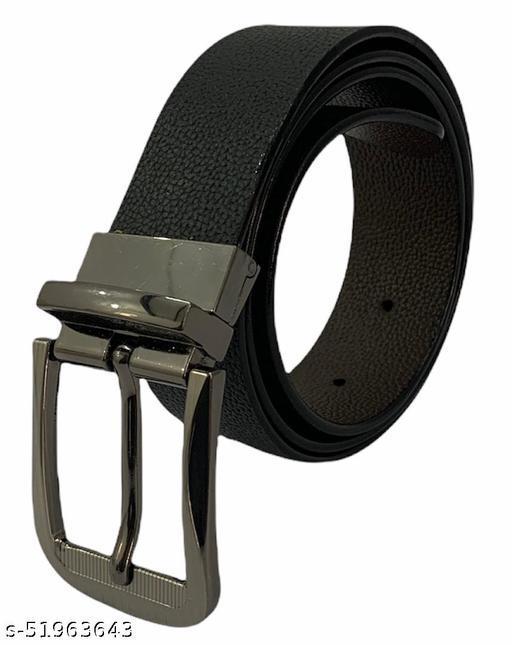 Bold N Elegant - BLACK DOT  Stylish Men's Belt REVERSIBLE