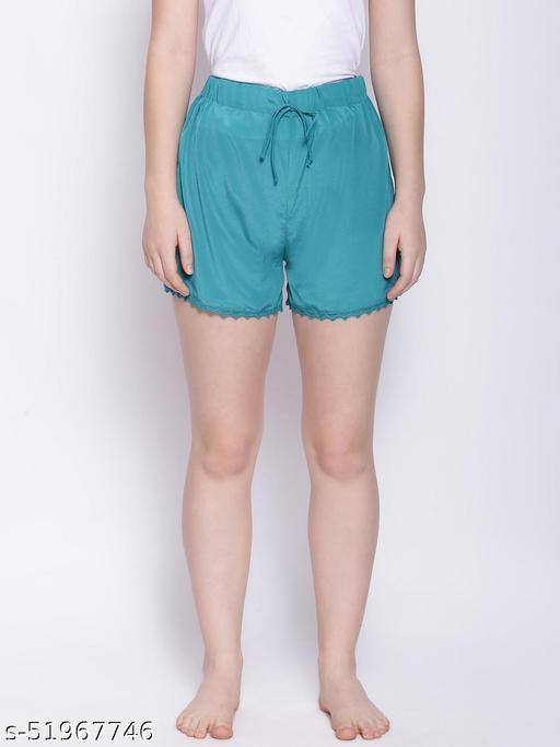 Teal Green Nightwear Shorts