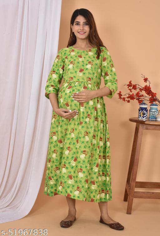 Navratri offer Cotton Maternity Feeding Dress