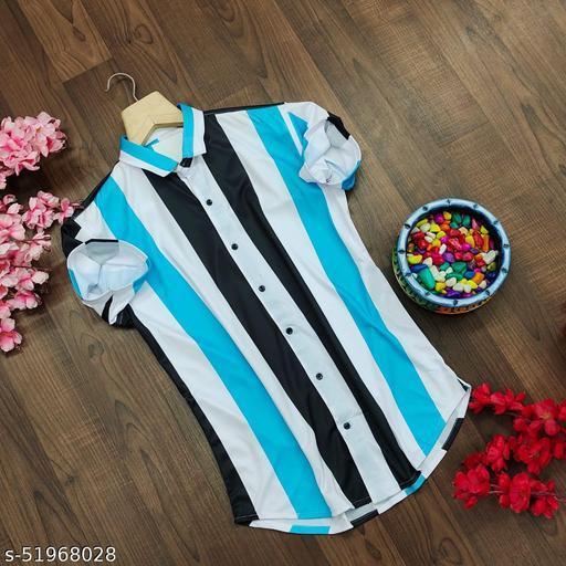 Licra fabric Linning design half sleeve Shirt