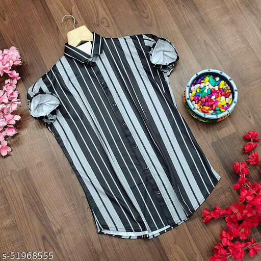 Licra fabric Linning design half sleeve Men's Shirt
