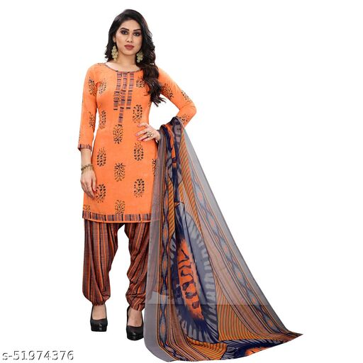 GiftsnfriendsCrepe Printed Salwar Suit Material(Unstitched)