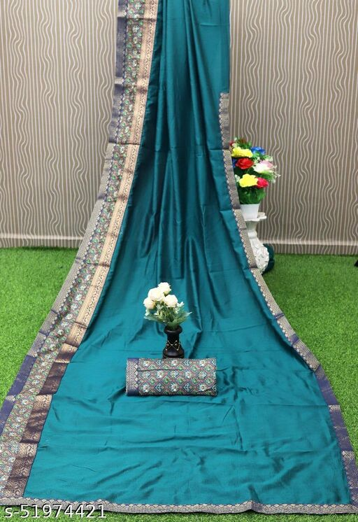 RekhaManiyar pretty silk saree with digital border and blouse