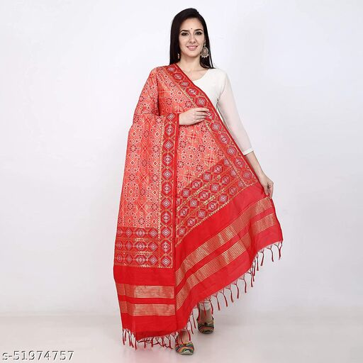 Ethnic studio present's Patola Design Heavy Jecquard Dupatta/Chunni very appropriate for marriage and other function
