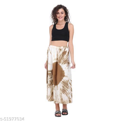 Litlu Brown Tie dye Cotton Long Skirt
