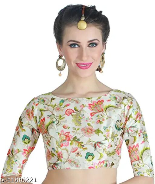 Vihu fashion's  New Readymade Latest White Blouse For Women Wear