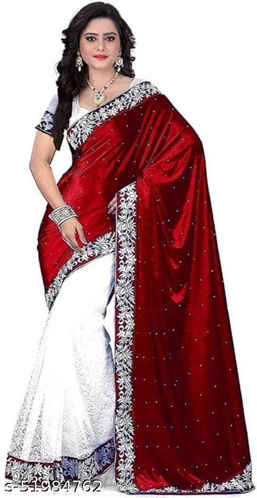 DM FASHION HUB New Fashion Sylish Velvet Saree