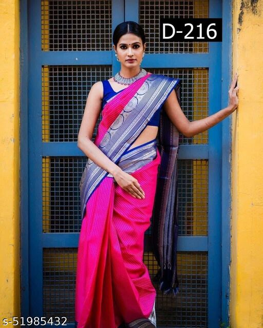Diyan Fashion Soft Lichi Silk Saree (Celebrity Inspired)