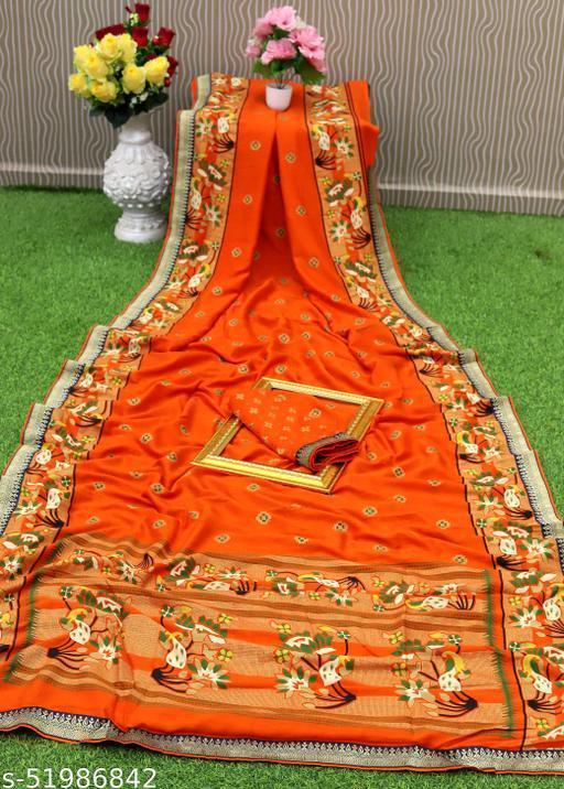 RekhaManiyar Pure Vichitra Silk Kalamkari Printed Saree With Gold Print and Border