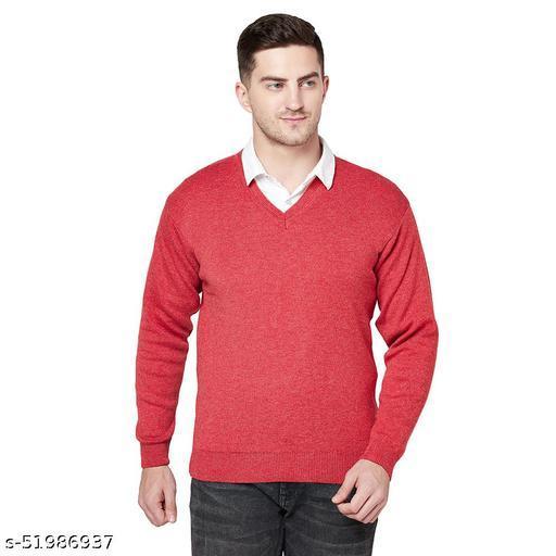 Grest Red Woolen Men's Sweater