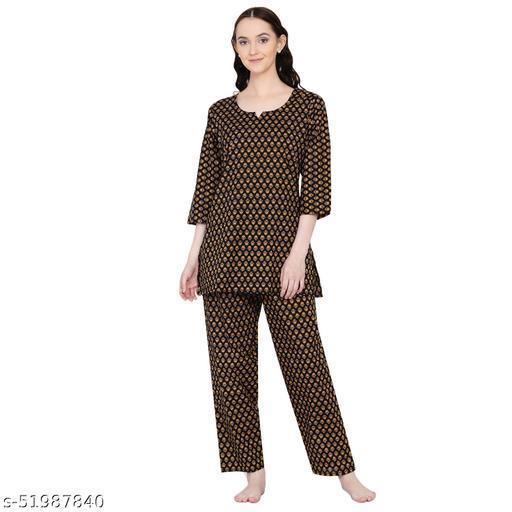 Veera Paridhaan Women's Cotton Printed Night Suit Set
