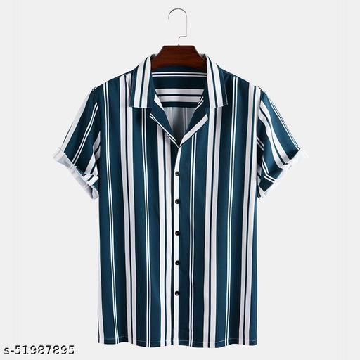 Licra fabric Linning design half sleeve slim collor Men's Shirt