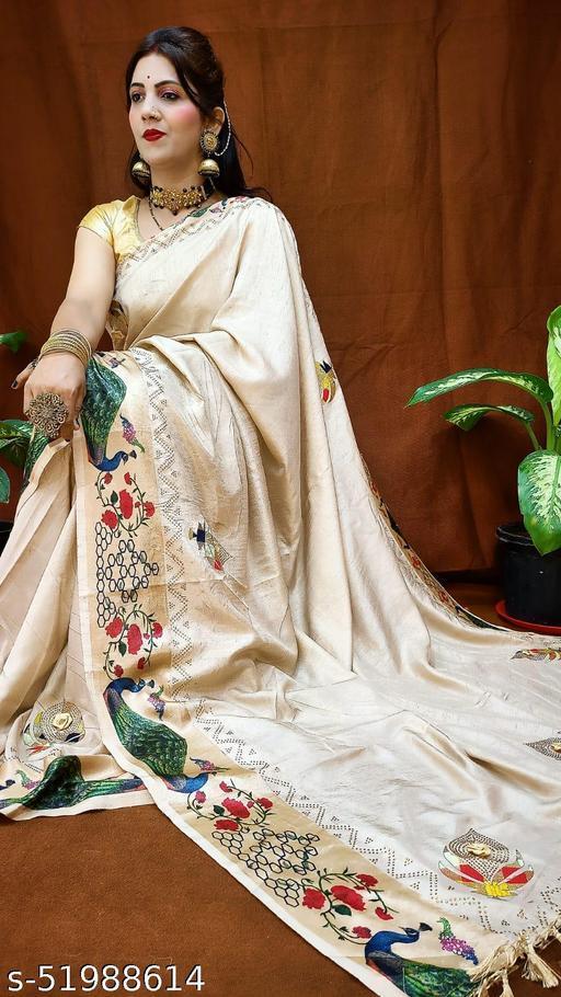 Vichita Satin Patta Border  And Digital Print With Diamond