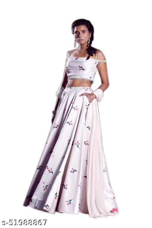 AJ ENTERPRISE printed lehenga for navratri and festivel for women