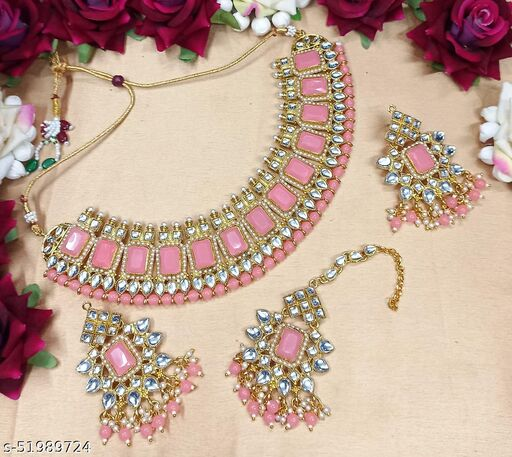 Traditional Stone Necklace Set